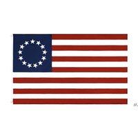 Großhandel Fabrikpreis doppelt genäht 3x5 fts 13 Sterne US USA 1777 American Betsy Ross Flag AHD5646