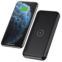 QI Беспроводной Power Bank 10000MAH USB-C Портативный фаст-зарядное устройство для быстрого телефона