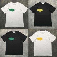 21SS Lüks Tişört Tasarımcısı Marka Palms Melekler Melek T Gömlek PA Giyim Sprey Mektubu Kısa Kollu İlkbahar Yaz Gelgit Erkekler ve Kadın Tee Tops