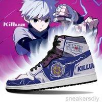 DIY Anime Fan Sneakers yoyo killua Shoes Boots Mens Womens Basketball Shoes Jumpman 1 Model Custom Trainers Casual shoe