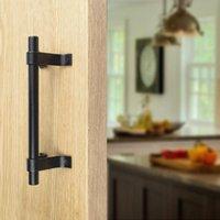 Handles & Pulls Barn Door Handle Sliding Flush Pull Wood Gate Hardware Stainless Steel Kitchen Doors Furniture