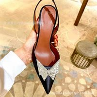 Luxury Dress Shoes 2021 Spring Low Solid Color 40-43 Baotou Pointed Side Air Sandals High Heel Single Sho for Women