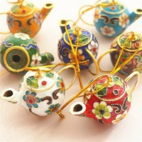 10 sztuk Chiński styl wystrój domu mini garnek Cloisonne Emalia Fimigree Dekoracje Handcrafts Ornament Business Favors Prezenty Przedmiot na Party Guest Guest