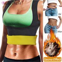 Women's Shapers Women Slimming Body Shaper Waist Trainer Vest Corsets Sweat Sauna Suit Weight Loss Undershirt Compression Shirt Workout Tank