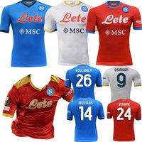 2021 2022 Napoli Maglia Gara Special Soccer Jersey 21 22 Neapel Lozano Ossimhen Insignente Mertens Koulibaly Anguissa Politano Home Viertel Fußball Hemd