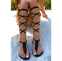 Boots Black 2021 Fashion Over-the-knee Women's Sandals Sexy Summer Plus Size European And Beautiful