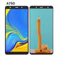 Encel pour Samsung Galaxy A7 A750 LCD Panneaux à écran tactile Assemblée de numériseur Remplacer des pièces de rechange en gros SM-A750F A750F