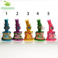 6.5 Inch Colored Glass Water Pipe Hookahs with 4mm Quartz Banger 14mm Fmale for Smoking Bongs Dab Rigs Conveient& Popular To Use 1442