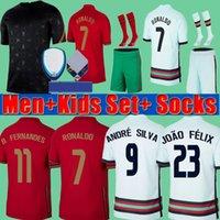 Portugal Pre match Training suit 2020 Euro Cup + Bambini RONALDO Fernandes 2021 Pullover di calcio 20 21 André Silva Joao Felix PEPE DANILO Football Shirts kit set