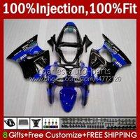 Injectie Mold Lichaam voor Kawasaki Ninja ZZR600 ZZR-600 600 CC 05-08 Carrosserie 100% Fit Stock 38HC.201 ZZR 600 Blauw Zwart 2005 2006 2007 2008 600CC 05 06 07 08 OEM Fairing Kit