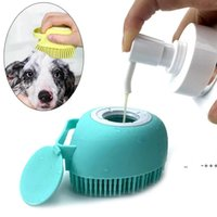 Bathroom Puppy Big Dog Cat Bath Massage Gloves Brush Soft Safety Silicone Pet Accessories for Dogs Cats Tools Mascotas Products RRF10965