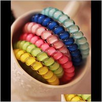 1000Pcslot Telephone Wire Cord Gum Tie 65Cm Girls Elastic Band Ring Rope Candy Color Bracelet Stretchy Scrunchy Or3Di Accessories T4Rlv