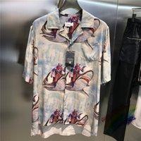 2022ss camisas hombres mujeres 1 de alta calidad de impresión digital camisa de vaquero blusa de gran tamaño