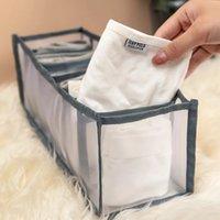 Caixa de armazenamento de gavetas BRA Closet Organizador Underpants Caixa de acabamento Meias dobrável 24 grade divisor Bras Sock fornece ZWL465
