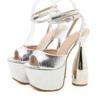 Chaussures de robe Riason Sandália de Salto Aberto Feminina, Novo Molo, Extremo Aberto, com Fivela Luxo, Sapatos Sexy Para MT06