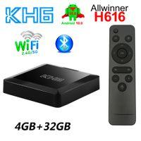 Mecool KH6 Smart TV Box Android 10.0 4GB 32GB Allwinner H616 2.4G 5G Dual Band WiFi 4K HDR Home Media Player 4G32G Bluetooth 5.0 Quad Core TVbox
