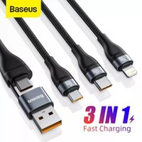 Baseus 3 in 1 USB Cable Fast Charging Type C USB 100W Data Charger Mobile Phone for iPhone Type C Micro