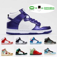 Preferencial SB Dunk High Casual Shoes Dunky Chunky Shoe Spectrum Mens Pro Strawberry Doraemon Mandarin Duck Athletic Og Woman