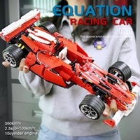 The 8386 F1 Racer 1:10 Speed Car Model Building Blocks 0011 High-Tech Cars Educational Assembly Bricks Children Education Christmas Gifts Birthday Toys For Kids