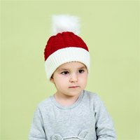 Baby Stuff Pompom Hat Christmas Winter Knitted Kids Babe Girl Boy Hats Warm Thicker Children Infant Beanie Cap Bonnet Casquette Enfant Xmas Gifts