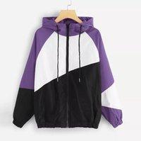 Hoodies das mulheres moletom camisetas Mulher retalhos casaco harajuku esporte com capuz moletom manga longa zipper fina saoksuits casual alta qualidade p
