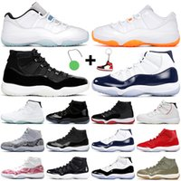 Retro Air Jordan 11 Zapatos de baloncesto Jorden Jumpman 11S AJ11 Citrus 25 aniversario Concord Legend Blue Gan Like 82 96 Women Men Trainers Sneakers