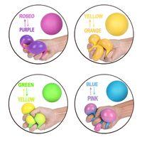 2021 Fidget Brinquedos Stress Bola Rainbow Colorido Espuma macia PU Esprema Squishy As bolas de cor para crianças crianças adultos relevo engraçado brinquedo atacado