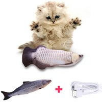 Electronic Pet Cat Toy USB Charging Electric Simulation Fish Toys For Dog Chewing Playing Biting Supplies Dropshiping