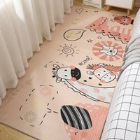 Outdoor Pads Bedroom Bedside Mats Girls Carpet Net Red Room Layout Can Sleep And Sit On Disposable For Household Use
