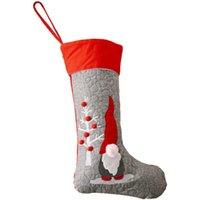 크리스마스 장식 1pc 사랑 스럽다 얼굴이없는 인형 양말 모양의 사탕 홀더 아이 선물 가방