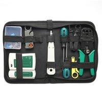 Professional Hand Tool Sets 14pcs Portable Ethernet Hardware Network LAN Cable Crimper Pliers Kit Repairing Set Cables Tester