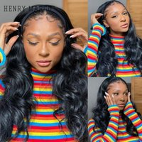 Synthetic Wigs HENRY MARGU Long Wavy Headband Wig For Black Women None Replacement Body Wave Headwraps Hair Cosplay No Glue