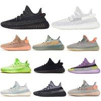 AD Yeezy 350 V2 Running shoes Static Reflective Kanye west de course Beluga 2.0 Sésame Beurre semi-Frozée Jaune Crème Jaune Zebra Black Hommes Femmes Sneaker EUR 36-47