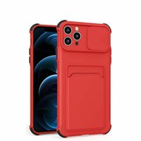 Antifall Card Bag Phone Cases For Samsung Galaxy S21FE A02 A22 A42 A32 A72 A82 A20S A50 A21S A30S F62 A71 Lens Push Window Protect Wallet Shockproof Protective Cover