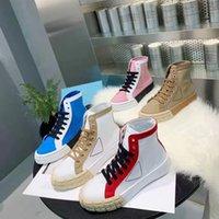 Plataforma de goma inspirada en motocross para mujer zapatos casuales diseñador algodón algodón nylon gabardinino alto grueso entrenador de fondo lienzo zapatillas planas de lona 35-40