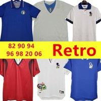 1982 Italia Retro Soccer Jersey 1990 1996 1998 2000 Home Football 1994 Maldini Baggio Donadoni Schillaci Totti del Piero 2006 Pirlo Inzaghi Buffon
