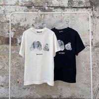 Патагония правая пальма углов ангел Ice Blue черный и белый медведь футболка для мужчин и женщин любителей хлопок с коротким рукавом мода быстрый