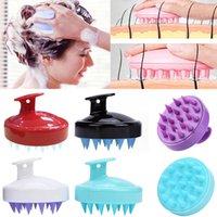 Corps de tête de silicone pour laver la racine de cheveux propres racine poils crackp massage peigne douche pinceau bain spa shampooing anti-pellrouffe