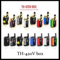 Original Kangvape TH420 V Box Kit 800mAh 20W Adjustable Wattage Temperature Vape Mod TH-420V box with 0.5ml Ceramic Coil Cartridge