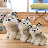 Husky Köpek Peluş Bebek Oyuncakları Hediyeler Çocuk Noel Hediyesi Dolması Hayvanlar Bebekler Çocuk Oyuncak 18-28 cm Ev Dekorasyon ve Eşlik Çocuk Uykusu