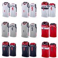 Jersey Özel Baskılı Erkekler Russell 4 Westbrook 9 Deni Avdija 2021 Swingman Şehir Basketbol Formaları Gri Simge Sürümü