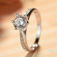 HBP fashion luxury new hand decoration women's Micro set 8-heart 8-arrow super flash 6-claw commemorative 3A zircon ring