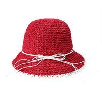Primavera verano señoras visera hecha a mano ganchillo colapsible pescador sombrero de paja mujer moda playa playa q0311 sombreros de ala ancha