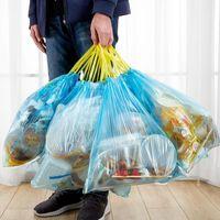 Müll Müll Kordelzug Müllsäcke Haushalt verdicken Hochleistungs-Einweg-Kunststoff-Beutel-Verschlussgriffe-Speicher-Lagertragungsbehälter CCF6916
