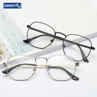 Seampy 다각형 금속 독서 유리 맑은 렌즈 노안 안경 광학 안경 디옵터 + 1.0to + 4.0 여성용 선글라스