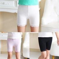 Ins Çocuk Kız Pamuk Şort Yaz Sonbahar Moda Dantel Kısa Tayt Kızlar Için Güvenlik Pantolon Bebek Kısa Tayt 213 Z2