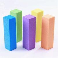 Fichier de tampon de ongle de haute qualité PRO Fond d'éponge rose Papier de verre Emery Bloc de polissage Meulage manucure Ensembles de pédicure