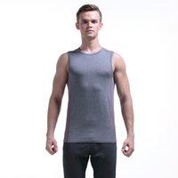 Quick-dry Tank Tops Men's fashion clothing sexy running basketball GYM causal basic underwear Gray #70711