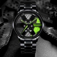 Лучшие часы бренда колеса автомобиля на заказ дизайн спортивных ободок часы из нержавеющей стали водонепроницаемый оптом 2021 мужчины наручные наручные часы