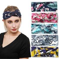 Free DHL Mujer Moda Impresión Nudo Deportes Yoga Headbands Estiramiento Elástico Hairbands Correr Fitness Sweatband Turban Headwrap Bufanda Accesorios para el cabello Chicas